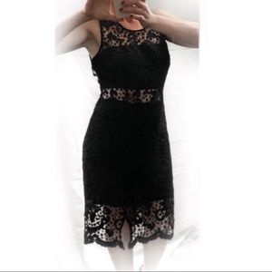Black crochet with peep middle XL midi sexy back